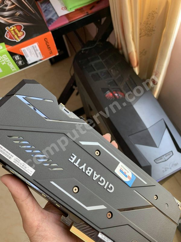 Gigabyte GTX 1660 Gaming OC backplate
